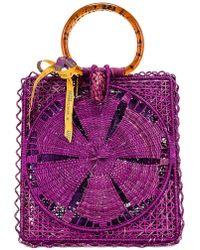 Silvia Tcherassi For Fwrd Luriza Bag - Purple