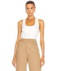 Lemaire Sleeveless Bodysuit - White