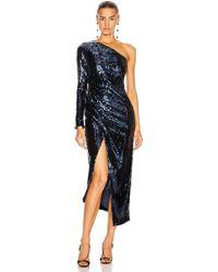 Galvan London Mirrored Mamounia Dress - Blue