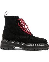 Proenza Schouler - Suede Hiking Boots - Lyst