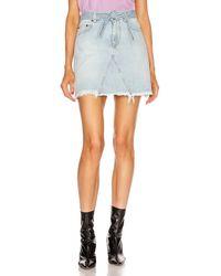 Givenchy A Line Denim Mini Skirt - Blau