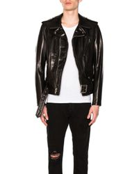 Schott Nyc Pebbled Moto Jacket - Black