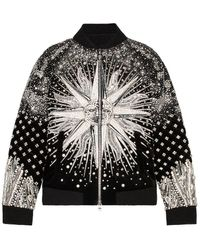 Balmain Embroidered Bomber Jacket - Black