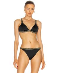Versace Triangle Bikinioberteil - Schwarz