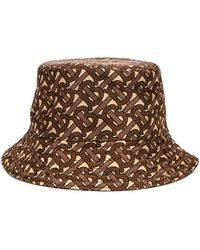 Burberry Monogram Nylon Bucket Hat - Braun