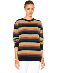 The Elder Statesman - For Fwrd Inch Stripe Sweater - Lyst