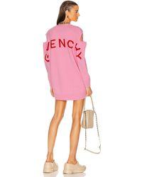 Givenchy Logo Jacquard Oversize Cardigan - Pink