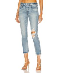 Moussy Raleigh Tapered - Blau