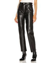 Agolde Recycled Leather 90's Pinch Waist - Black