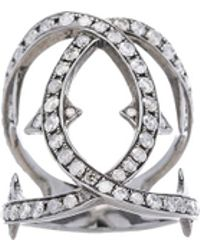 Loree Rodkin | Spiked Diamond Loop Ring | Lyst