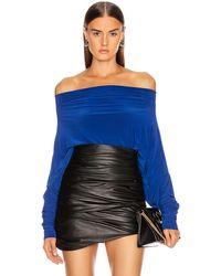 Norma Kamali All In One Bodysuit - Blue
