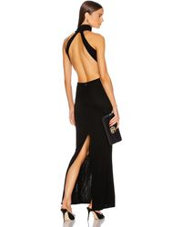 Brandon Maxwell High Neck Backless Gown - Black