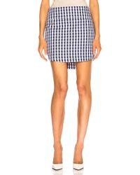Monse - Gingham Shirt Tail Skirt - Lyst