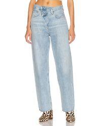 Agolde Jeans mit gekreuztem Hosenlatz, weiter Schnitt - Blau