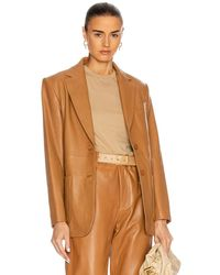 Alberta Ferretti - Leather Blazer - Lyst