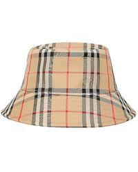 Burberry Karierter Bucket-Hat - Natur