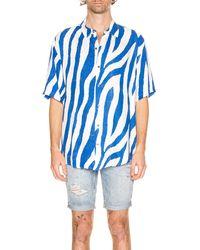 Ksubi Animal Short Sleeve Shirt - Blau