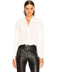 L'Agence - Cinzia Side Seam Button Tunic - Lyst