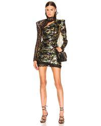 Dundas Camouflage Sequins Dress - Multicolor