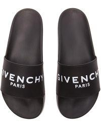 Givenchy Contrast Logo Slides - Black