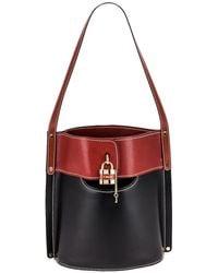 Chloé Aby Bicolor Bucket Bag - Black