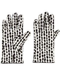 Raf Simons Animal Fabric Gloves - Weiß