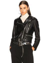 Acne Studios Mock Leather Jacket - Black