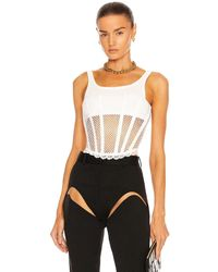 Dion Lee Net Lace Suspended Corset - Weiß