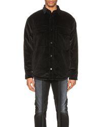 Fear Of God Corduroy & Sherpa Lined Shirt Jacket - Black