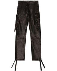 Amiri Leather Tactical Pant - Black
