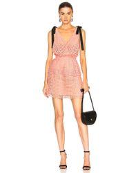 09a07b43a714 Self-Portrait Cutwork Mini Dress in Pink - Lyst