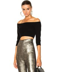 ThePerfext - Angel Off The Shoulder Top In Black - Lyst