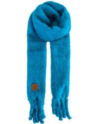 Loewe Mohair Scarf - Blue