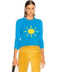 Alberta Ferretti Sunshine Crewneck Jumper - Blue