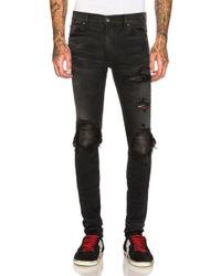 46dcc26eca4 Saint Laurent Faux Leather Jeans in Black for Men - Lyst