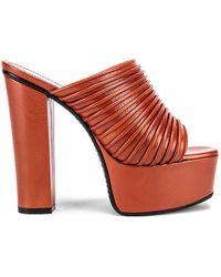 Givenchy Platform Mules - Orange