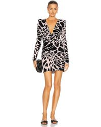 Alexandre Vauthier Giraffe Ruched Mini Dress - Black