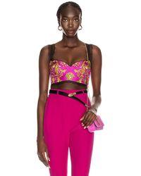 Versace Brocade Bra Top - Pink