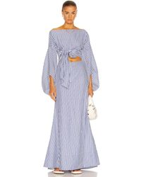 Rosie Assoulin Fig Sleeve Dress - Blue