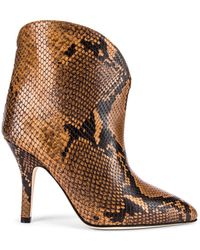 Paris Texas Python Print Ankle Boot - Braun