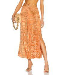 Christopher Esber Pleated Knit Tie Skirt - Orange