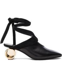 JW Anderson - Cylinder Heel Leather Ballet Shoes - Lyst