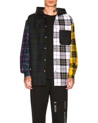 Alexander Wang - Plaid Hooded Overshirt - Lyst