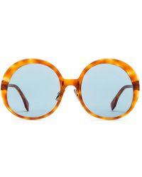 Fendi Promeneye Oversize Round Sunglasses - Brown