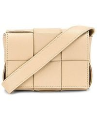 Bottega Veneta Card Case With Strap - Natural