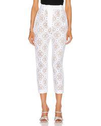 Alexander McQueen High Waist Lace Pant - White