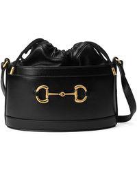 Gucci Horsebit 1955 Bucket Bag - Schwarz