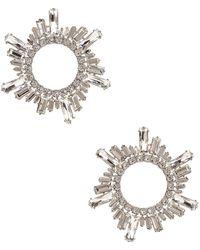AMINA MUADDI - Begum Crystal Earrings - Lyst