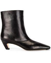 Khaite Arizona Slouch Ankle Boots - Black