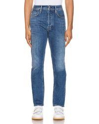 Acne Studios River Mid Blue Jeans mit 5 Taschen - Blau